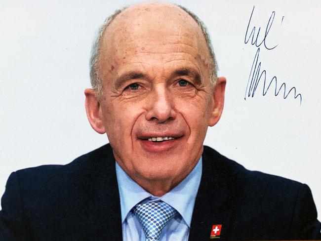 Autograph Ueli Maurer Autogramm