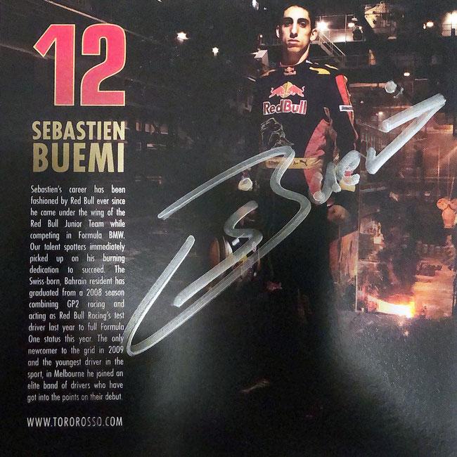 Autograph Sebastien Buemi Autogramm