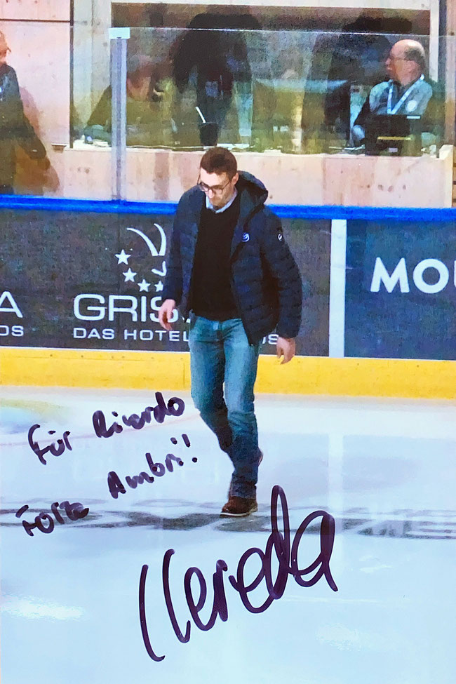 Autograph Luca Cereda Autogramm
