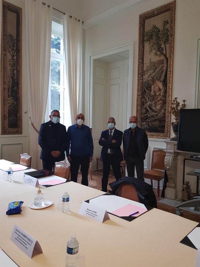 Délégation du CNLH reçue par Mme Geneviève DARRIEUSSECQ en préfecture, le 23/10/2020.