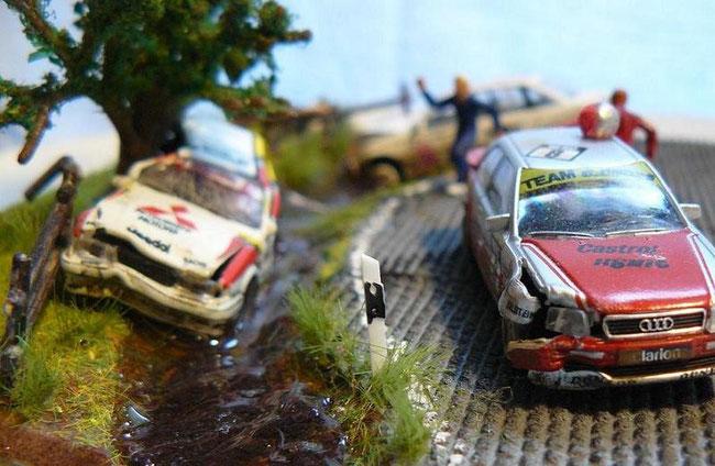 Leider lassen sich Unfälle dabei nie komplett vermeiden. Aber keine Sorge, alle Fahrer blieben unverletzt.