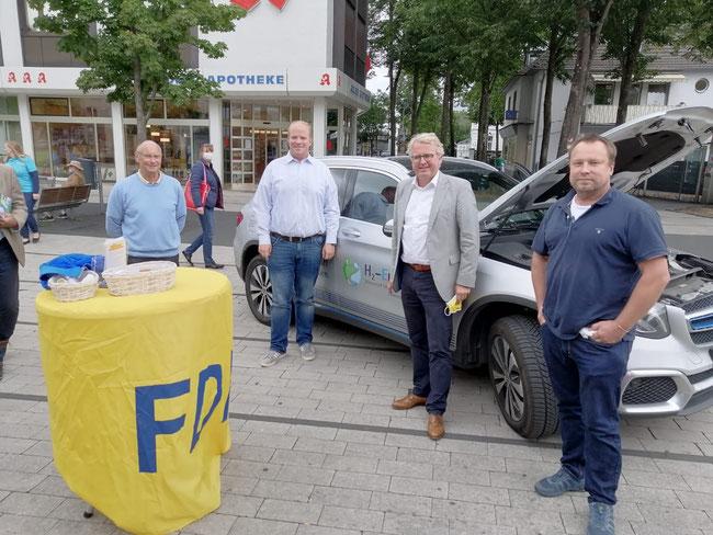 Bernd Schlegel, Christian Koch, Frank Schäffler, Bruno Gola (v.l.n.r.)
