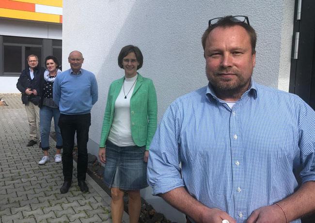 v.l.n.r.: Peter Aßmann, Martina van Stuyvenberg-Rauh, Bernd Schlegel, Jessica Gaitskell, Bruno Gola  Foto: privat
