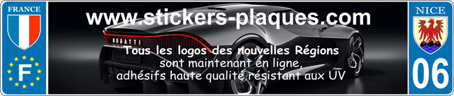 stickers plaques immatriculation