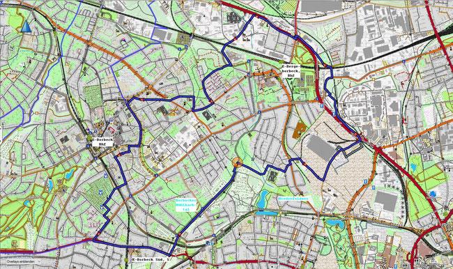 Karte von Essen-Bochold