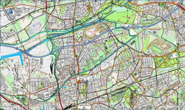 Karte von Essen-Altenessen-Nord