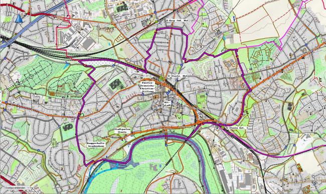 Karte von Essen-Steele