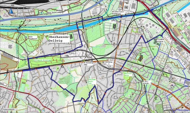 Karte von Essen-Dellwig