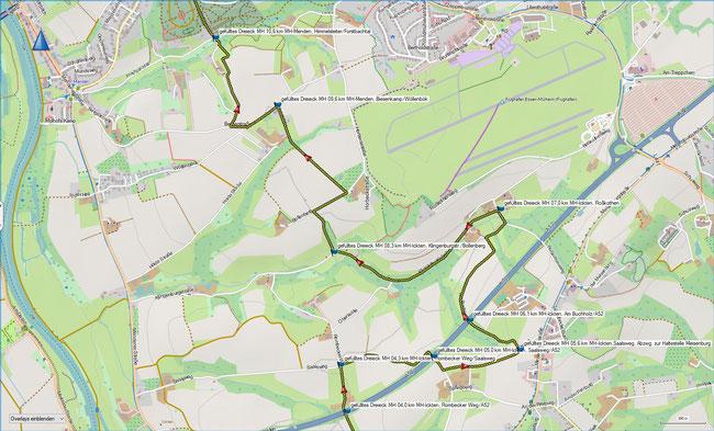 geschlossenes Dreieck Karte 2 MH-Ickten - MH-Raadt