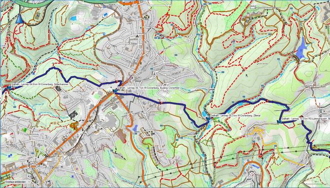 SG-Gräfrath - RS-Lennep Karte 2 W-Cronenberg - RS-Lüttringhausen-West