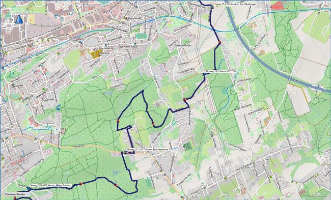 U Universitätenweg Detailkarte 4 Witten-Annen, Kleine Borbach - DO-Kruckel, S