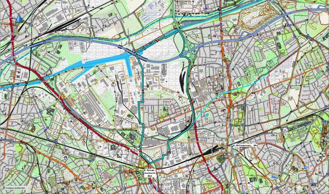 Karte von Essen-Vogelheim