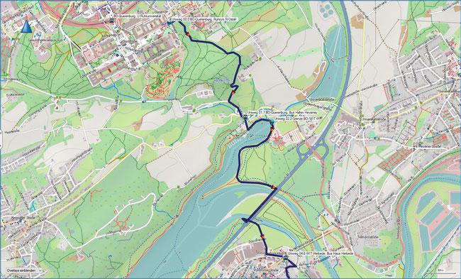 U Universitätenweg Detailkarte 1 BO-Querenburg, Ruhruni - Witten-Herbede, Haus Herbede