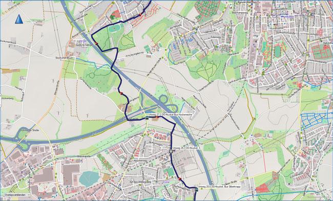 U Universitätenweg Detailkarte 5 DO-Kruckel, S -  DO-Eichlinghofen
