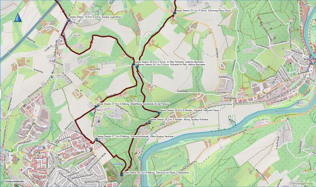 leeres Dreieck Karte 2 E-Schuir, Haus Schuir - E-Kettwig - E-Schuir,  Jugendhaus