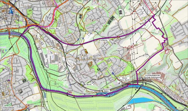 Karte von Essen-Horst