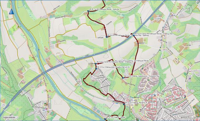 Rund um Mülheim, Karte 3 MH-Holthausen-Menden, Rossenbecktal - E-Kettwig, Kläranlage