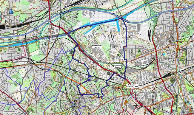 Karte von Essen-Bergeborbeck
