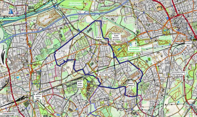 Karte von Essen-Katernberg