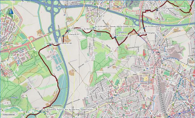 (B) Rund um Bochum Detailkarte 5 BO-Langendreerholz - BO-Querenburg