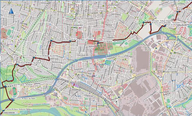 Rund um Mülheim Karte 10 OB-Alstaden, Ruhrpark - MH-Dümpten / OB-Dümpten