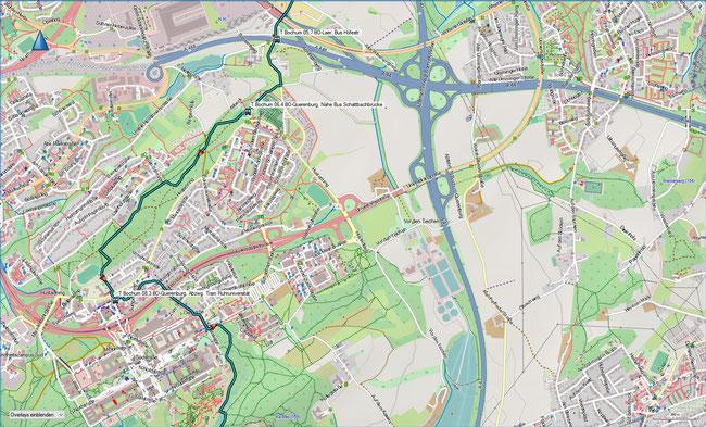 T Bochum Detailkarte 2 BO-Laer - BO-Querenburg, Ruhruni