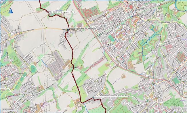 (B) Rund um Bochum Detailkarte 10 BO-WAT-Höntrop - BO-WAT-Sevinghausen