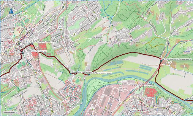 (B) Rund um Bochum Detailkarte 8 BO-Stiepel, Brockhauser Str. - BO-Linden