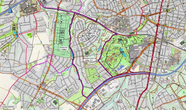 Karte von Essen-Margarethenhöhe