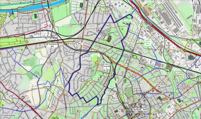 Karte von Essen-Gerschede