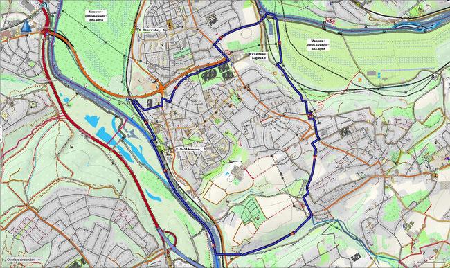 Karte von Essen-Überruhr-Holthausen