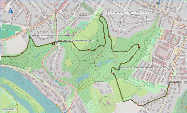 gefülltes Dreieck Karte 3a Ausschnittsvergrößerung Witthausbusch