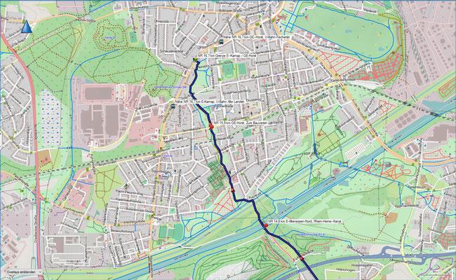 Naturroute Karte 5 Essen-Altenessen-Nord - Essen-Karnap / Gelsenkirchen-Horst