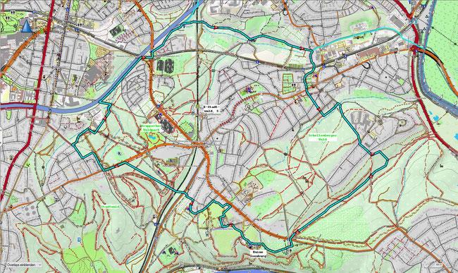 Karte von Stadtwald