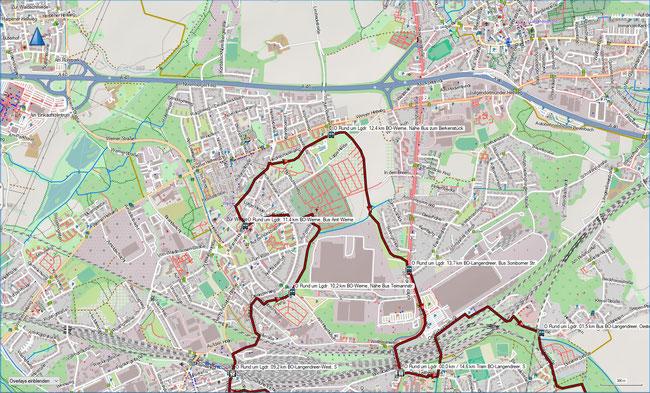 Rund um Langendreer Karte 2 BO-Langendreer West, S - BO-Werne - BO-Langendreer, S