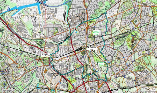Karte von Essen-Altenessen-Süd