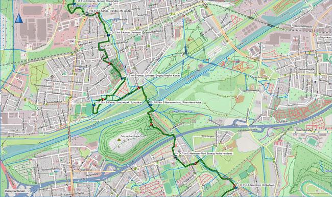 Wittringer Weg Karte 2 E-Altenessen-Nord,  Bus Kirche Heßlerstr.  -  E-Karnap, Alte Landstr. (Stadtbahn)