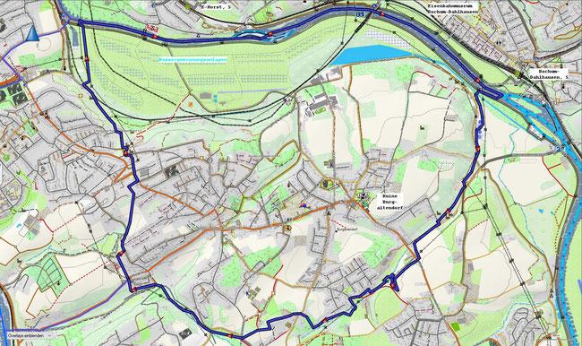 Karte von Essen-Burgaltendorf