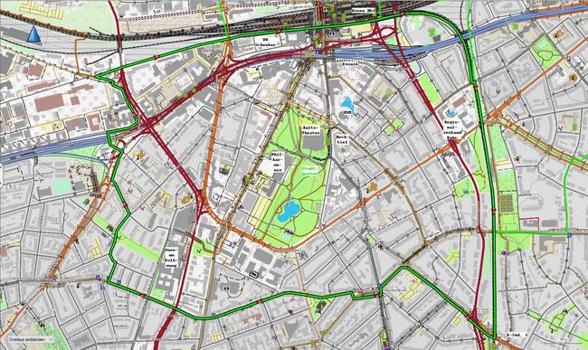 Karte des Essener Südviertels