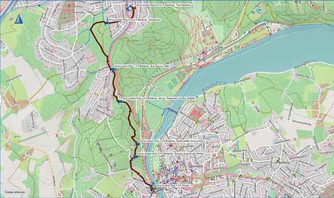 Karte Anna-Linder-Weg