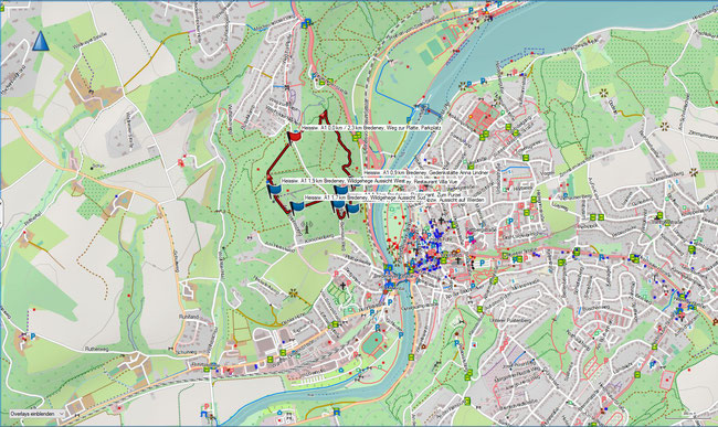 Karte Heissiwald A1 im Grundmaßstab der übrigen Wanderungen