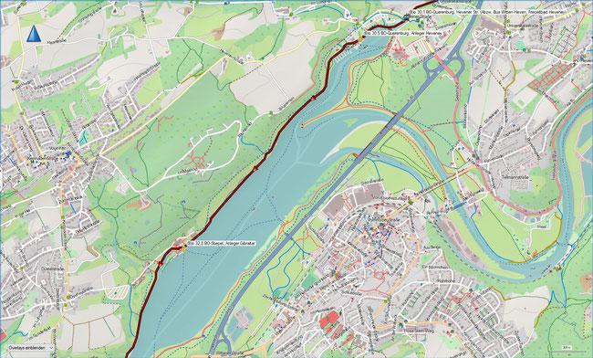 (B) Rund um Bochum Detailkarte 6 BO-Querenburg - BO-Stiepel