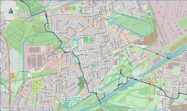 Raute 11 Karte 3 GE-Heßler, Nordsternpark - Gladbeck-Brauck, Hartmannhof