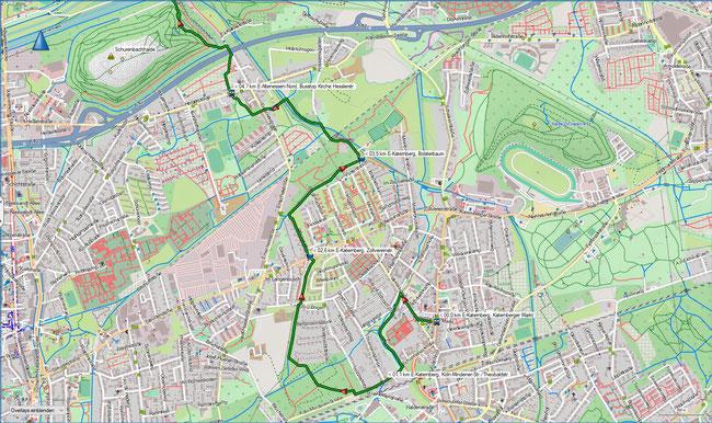 Wittringer Weg Karte 1 E-Katernberg - Schurenbachhalde