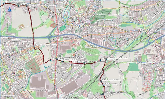 (B) Rund um Bochum Detailkarte 3 DO-Holte - BO-Oesterheide