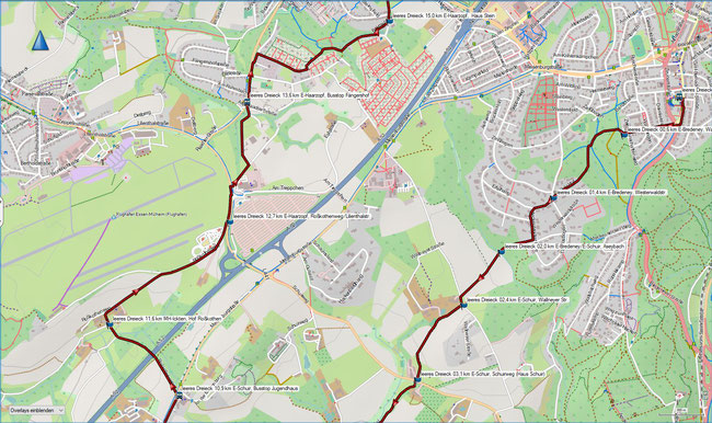 leeres Dreieck Karte 3 E-Schuir, Jugendhaus - E-Haarzopf, Haus Stein