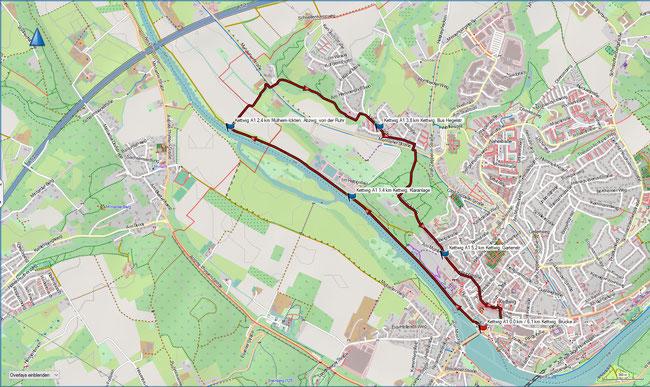 Karte Heissiwald A3 im Grundmaßstab der übrigen Wanderungen