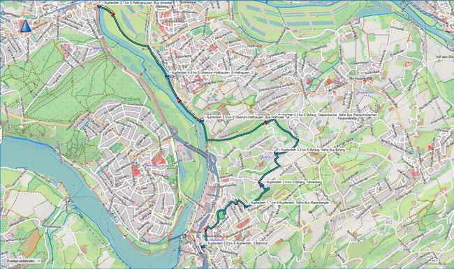 Zugangsweg Essen-Kupferdreh - E-Rellinghausen, Übersicht