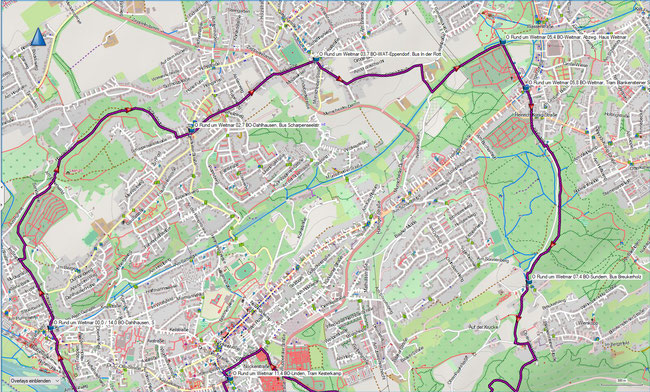 Rund um Weitmar Karte 1 Bochum-Dahlhausen, S - BO-Weitmar - BO-Sundern