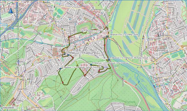 Rund um Rellinghausen Karte